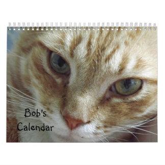 2017個のオレンジの虎猫猫のカレンダー カレンダー