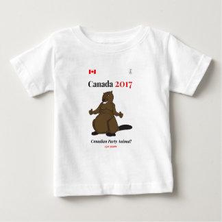 2017匹のビーバーのパーティーのカナダ150 ベビーTシャツ