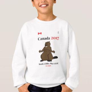 2017匹のビーバーの仕事のカナダ150 スウェットシャツ