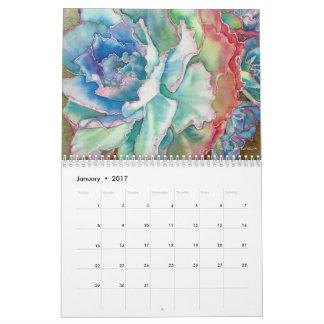 2017匹のSucculentのカレンダー カレンダー