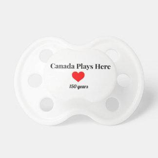 2017年のカナダのカナダ150はここに遊びます おしゃぶり