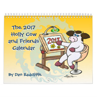 2017年のヒイラギ牛および友人のカレンダー カレンダー