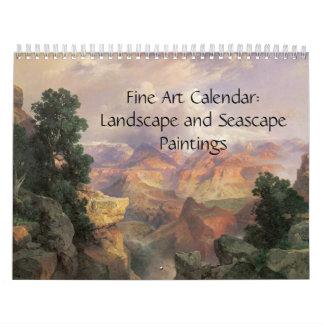 2017年のファインアートのカレンダーの景色および海景 カレンダー