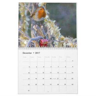 2017年のロビンのカレンダー カレンダー