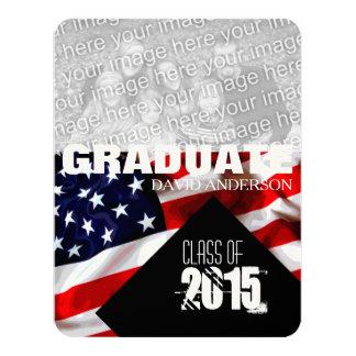 2017年の招待状の米国旗の卒業のクラス カード