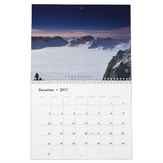 2017年の景色のカレンダー カレンダー
