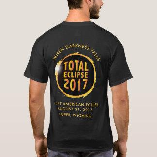 2017年の暗闇の滝の総日食 Tシャツ