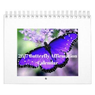 2017年の蝶断言のカレンダー カレンダー