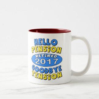 2017年の退職 ツートーンマグカップ