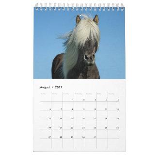 2017年の馬のカレンダー カレンダー