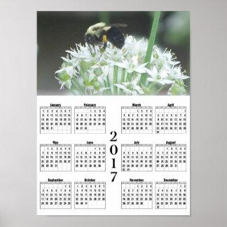 2017年の《昆虫》マルハナバチのカレンダー ポスター