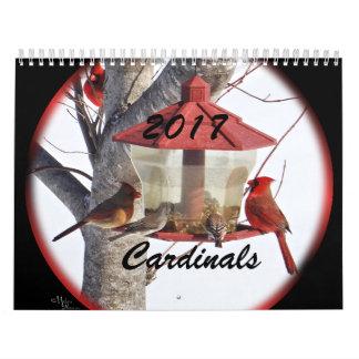 2017年の(鳥)ショウジョウコウカンチョウ-必要とされるに応じて年を変えて下さい カレンダー