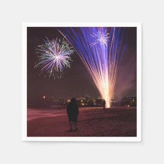 2017年を祝って下さい スタンダードカクテルナプキン