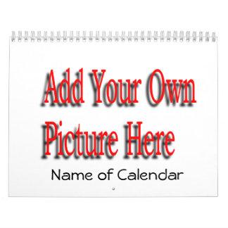 2017必要とされるあなたの写真カレンダー及び年を加えて下さい カレンダー