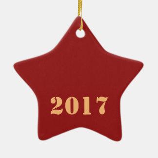 2017明けましておめでとうのテンプレートの編集可能文字 セラミックオーナメント