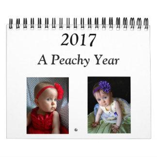 2017桃色のカレンダー カレンダー