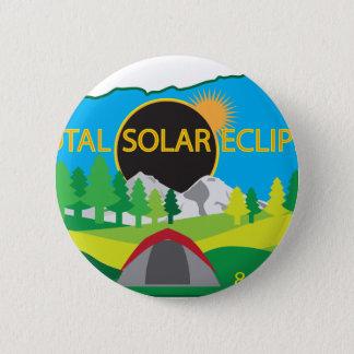 2017総日食のキャンプ旅行の地図 5.7CM 丸型バッジ