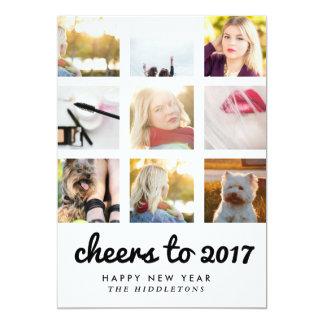 2017% pipe% Instagram 9の写真|の新年への応援 12.7 X 17.8 インビテーションカード