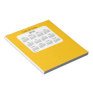 2018のカレンダーの保存日付の金ゴールドのメモ帳 ノートパッド