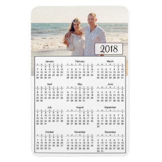 2018のカレンダーの名前入りなカップルの写真の磁石 マグネット