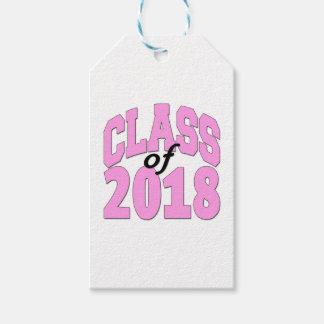 2018ピンクのクラス ギフトタグ