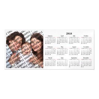2018年の家族写真のカスタムなカレンダーのマグネティック・カード マグネットカード