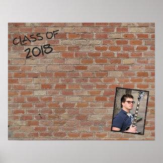 """2018年の署名のクラスは""""私の壁""""ので書きます ポスター"""