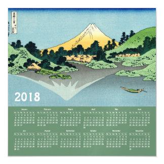 2018年のHokusaiのカレンダーのマグネティック・カード マグネットカード