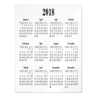 2018空白のなカレンダー マグネットカード