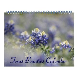 2018野生のテキサス州Bluebonnets カレンダー