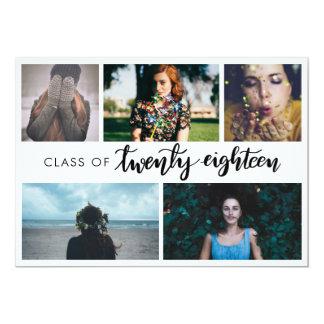 2018%のpipe%手書きの卒業生5の写真のクラス カード