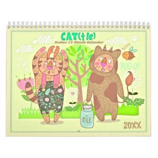 2018 (占星術の)十二宮図猫のカレンダー カレンダー