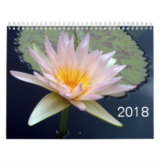 2018 Flowers Calendar カレンダー