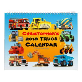 2018 Kids Construction Truck Calendar カレンダー
