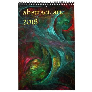 2018 Modern Abstract Art カレンダー