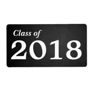 2018% pipe%の水差しの黒板の大学院のクラス ラベル