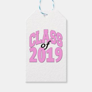 2019ピンクのクラス ギフトタグ