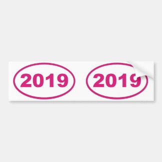 2019ピンクのマゼンタ バンパーステッカー