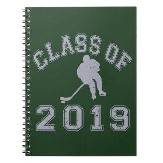 2019年ホッケーのクラス-灰色2の ノートブック