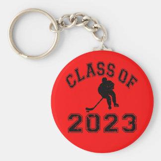 2023年ホッケーのクラス-黒2の キーホルダー
