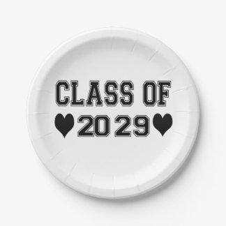 2029年の幼稚園のクラス ペーパープレート