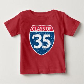 2035年の赤ん坊のTシャツのクラス ベビーTシャツ