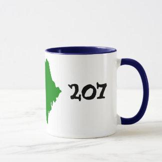 207のメインの市外局番! マグカップ
