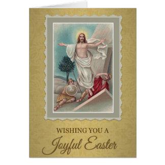 208幸せで嬉しいイースターの挨拶状 カード