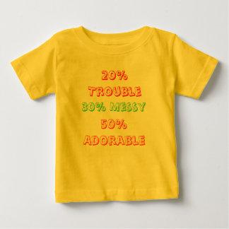 、20%の悩みきたない、30%愛らしい50% ベビーTシャツ