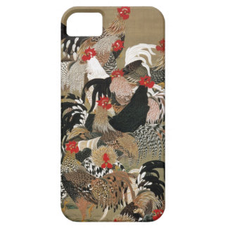 20. 群鶏図、オンドリの若冲の群、Jakuchūの日本芸術 iPhone SE/5/5s ケース