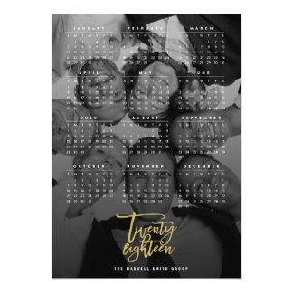 20 18 2018のカレンダーの写真のマグネティック・カード マグネットカード
