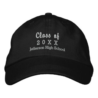 20XXカスタムな高等学校の名前の卒業のクラス 刺繍入りキャップ
