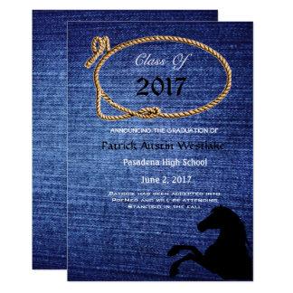20XXデニム、ロデオのスタイルの卒業の発表 カード