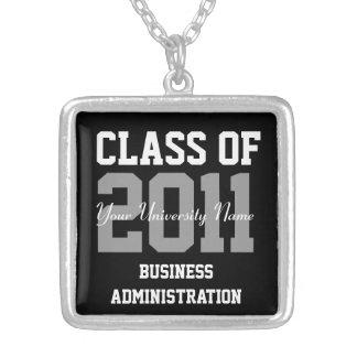 20XX大学卒業の名前入りなクラス シルバープレートネックレス